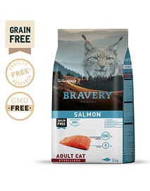 Bravery Salmon Adult Cat Sterilised Grain-free