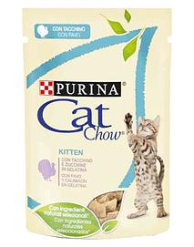 Cat Chow Kitten Turkey - Saquetas (24x85 Grs)
