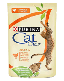 Cat Chow Adult Chicken - Saqueta (24x85 Grs)