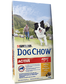 DOG CHOW ADULT ACTIVE - CHICKEN (14 KGS)