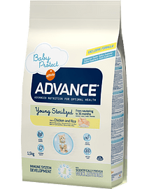 ADVANCE CAT Young Sterilised Chicken & Rice - 1.5 Kgs