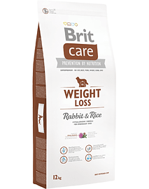 BRIT CARE Dog Weight Loss Adult All Breeds Rabbit & Rice