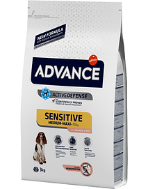 Advance Dog Medium & Maxi Adult Sensitive Salmon & Rice