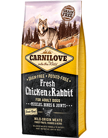 CARNILOVE FRESH CHICKEN & RABBIT ADULY DOG