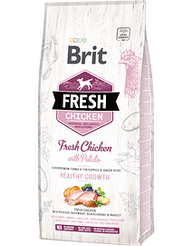 BRIT FRESH DOG PUPPY HEALTHY GROWTH WITH CHICKEN & POTATO