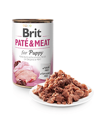 BRIT CARE Dog Paté & Meat for Puppy - 400 Grs