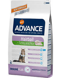 ADVANCE CAT Hairball Turkey & Rice - 1,5 Kgs