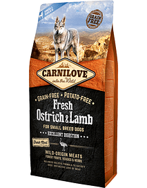 CARNILOVE FRESH OSTRICH & LAMB ADULT SMALL DOG - 6 KGS