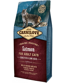 CARNILOVE CAT ADULT SENSITIVE & LONG HAIR SALMON