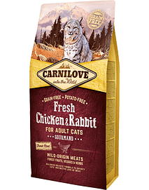 CARNILOVE FRESH CHICKEN & RABBIT ADULT CAT GOURMANDS - 400 GRS