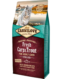 CARNILOVE ADULT CAT STERILISED FRESH CARP & TROUT