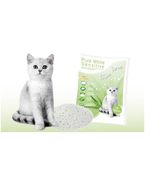 LITTER PURE WHITE SENSITIVE - ALOÉ VERA - 15 LTS
