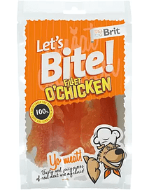 BRIT LET'S BITE FILLET O'CHICKEN - 80 GRS