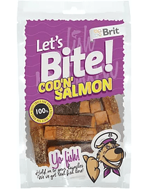 BRIT LET'S BITE COD'N SALMON - 80 GRS