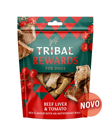 TRIBAL REWARDS - BEEF LIVER & TOMATO - 130 GRS