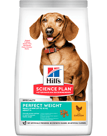 Hills Science Plan Perfect Weight Small & Mini Adult Dog with Chicken