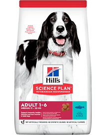 Hills Science Plan Medium Adult Dog with Tuna & Rice