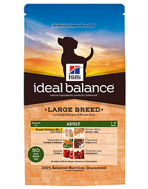 Hills Ideal Balance Canine Adult Large Breed with Fresh Chicken & Brown Rice