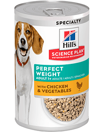 Hills Science Plan Perfect Weight Dog with Chicken & Vegetables