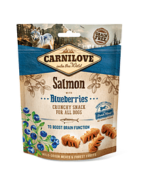 Carnilove Dog Crunchy Snack Salmon with Blueberries - 200 Grs