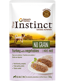 True Instinct Dog Mini Adult No Grain Pate Turkey & Vegetables