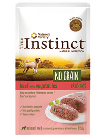 True Instinct Dog Mini Adult No Grain Pate Beef & Vegetables