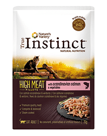 True Instinct Cat Adult High Meat Fillets with Salmon & Vegetables