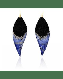 Pluma Acuarela. Negro Azul