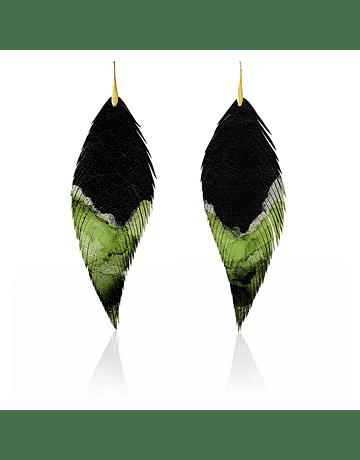Pluma Acuarela. Negro Verde