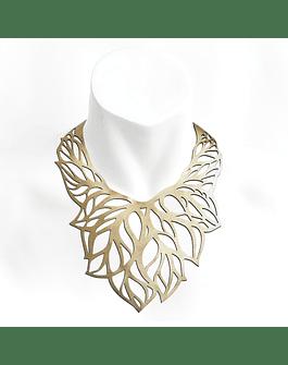 Collar Hojas L Dorado