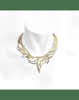 Collar Hojas S Dorado