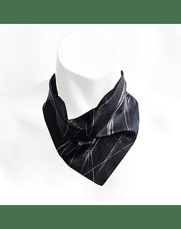 Bandana Negro y Plata