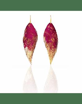 Plumas Roja Dorado