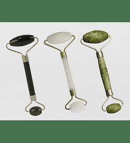 Rodillo de Jade para la cara y ojos Negro, Blanco o Verde