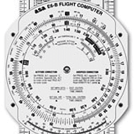 E6-B FIBERBOARD FLIGHT COMPUTER BY ASA