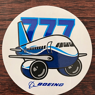 STICKER REDONDO BOEING 777