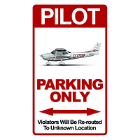 CARTEL PILOT PARKING ONLY