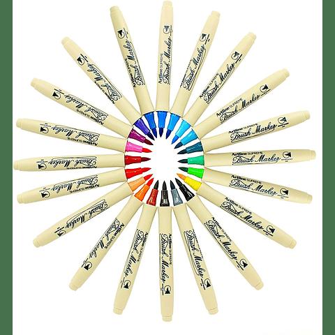 Artline - Brush Marker Verde Limón