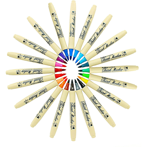 Artline - Brush Marker Verde Oscuro
