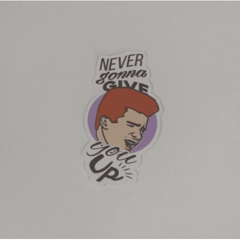 Sticker Never Gonna Give You Up