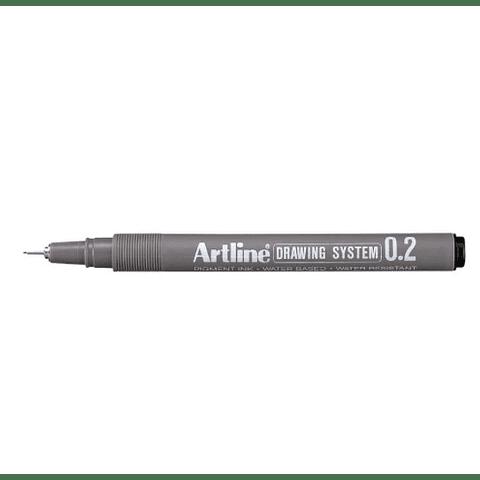 Artline - Lápiz Tiralínea Negro 0.2 mm
