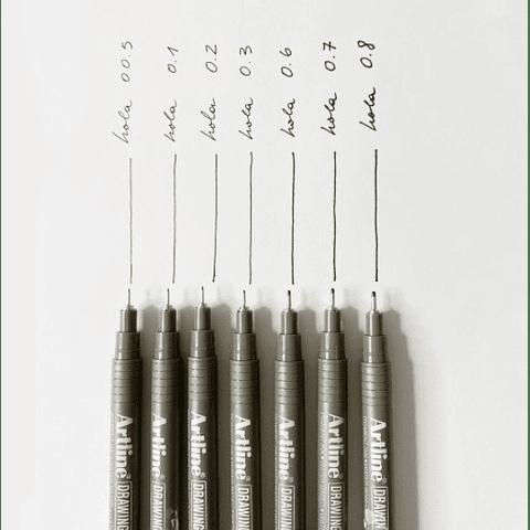 Artline - Lápiz Tiralínea Negro 0.3 mm