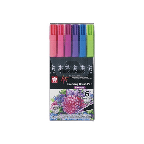 Koi - Coloring Brush Pen Set Flowers