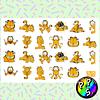 Lámina de Stickers 218 Garfield