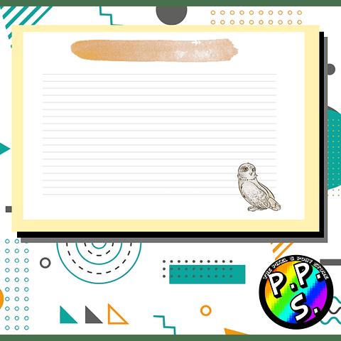 Flash Card Harry Potter - Hedwig