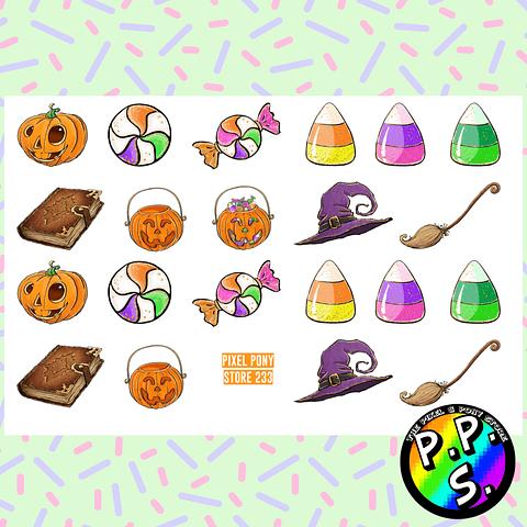 Set Láminas de Stickers Halloween