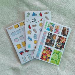 Set 10 Láminas de Stickers Al Azar