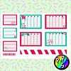Lámina de Stickers 240 Box Navidad Listas