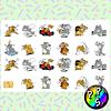 Lámina de Stickers 254 Tom y Jerry