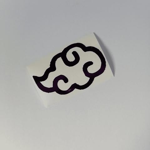 Vinilo Adhesivo Naruto - Nube Akatsuki